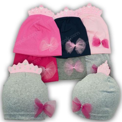 Трикотажные шапки на девочку