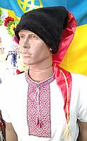 Козацька шапка зі штучного хутра, червоним шликом