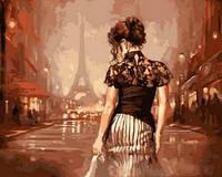 Картина раскраска по номерам на холсте 40*50см Babylon VP543 Винтажный Париж