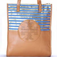 Женская сумка Tory Burch  в синею полоску