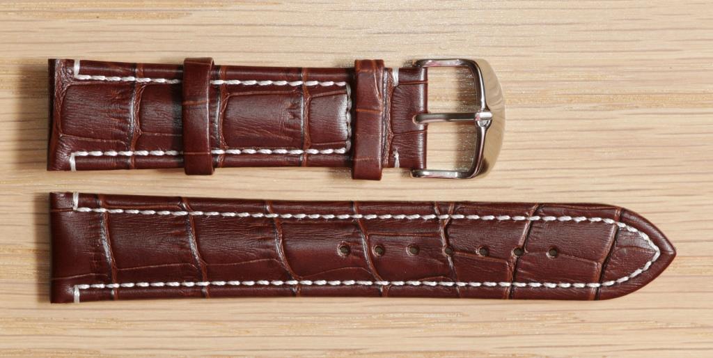 Ремешок для часов Hightone из натуральной кожи. 22 мм, Коричневый