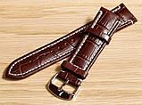 Ремешок для часов Hightone из натуральной кожи. 22 мм, Коричневый , фото 2