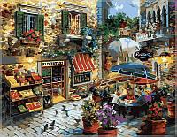 Картина по номерам на холсте Menglei Летнее кафе