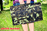 """Складной мангал  """"Вакула""""на 10шамуров в комуфляжном чехле с шампурами и саперной лопаткой"""