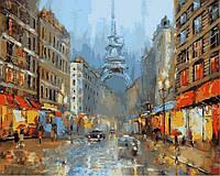 Картина раскраска по номерам на холсте 40*50см Babylon VP840 Париж в сиянии фонарей