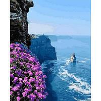 Картина раскраска по номерам на холсте - 40*50см Mariposa Q2187 Скалистый берег