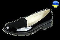Женские кожаные туфли kolari 1377 чёрные   весенние