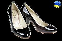 Женские туфли на каблуке kolari  7019 черные   весенние , фото 1