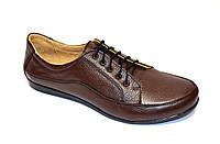"""Туфли женские кожаные коричневые на шнуровке. ТМ """"Maestro"""", фото 1"""