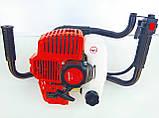 Мотобур Уралмаш МБ 52/300 (у комплекті 1 шнек 200мм + подовжувач 500мм). Бензобур Уралмаш, фото 3
