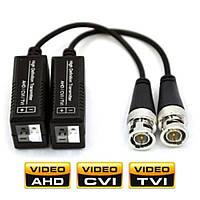 Комплект передатчиков видеосигнала по витой паре для AHD/HDCVI/HDTVI камер до 2 Мп Merlion 07507 (2 шт.)