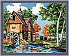 Картина по номерам на холсте Menglei Водяная мельница