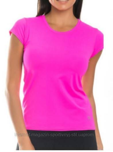 Футболка женская спортивная бифлекс розовая