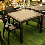 Комплект садових меблів BALI MONO - MELODY QUARTET (4+1) темно-коричневий ( Keter ), фото 9