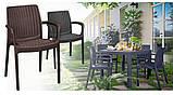Комплект садових меблів BALI MONO - MELODY QUARTET (4+1) темно-коричневий ( Keter ), фото 8
