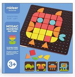 """Мозаика с карточками """"Геометрическая фантазия""""  MiDeer Toys"""