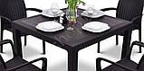Комплект садових меблів BALI MONO - MELODY QUARTET (4+1) темно-коричневий ( Keter ), фото 4