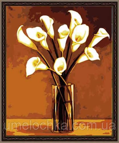 Картина по номерам на холсте Menglei Калы