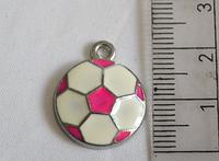 Підвіска для біжутерії металева з емаллю М'яч