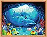 Раскраска по цифрам MENGLEI Дельфины в гроте