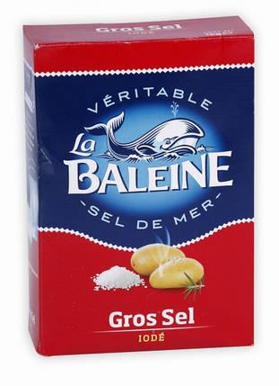 Соль морская йодированная крупнозернистая La Baleine - 1 кг, фото 2