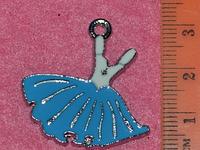 Подвеска для бижутерии металлическая с эмалью Платье
