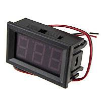 Вольтметр цифровой DC 0- 30V с LED-индикатором 0.36 дюйма красный, корпус черный