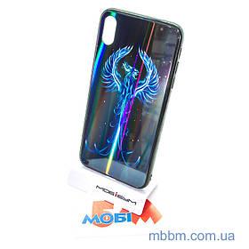 """Накладка TPU + Glass Lumi iPhone Xs Max {6.5 """"} фенікс"""