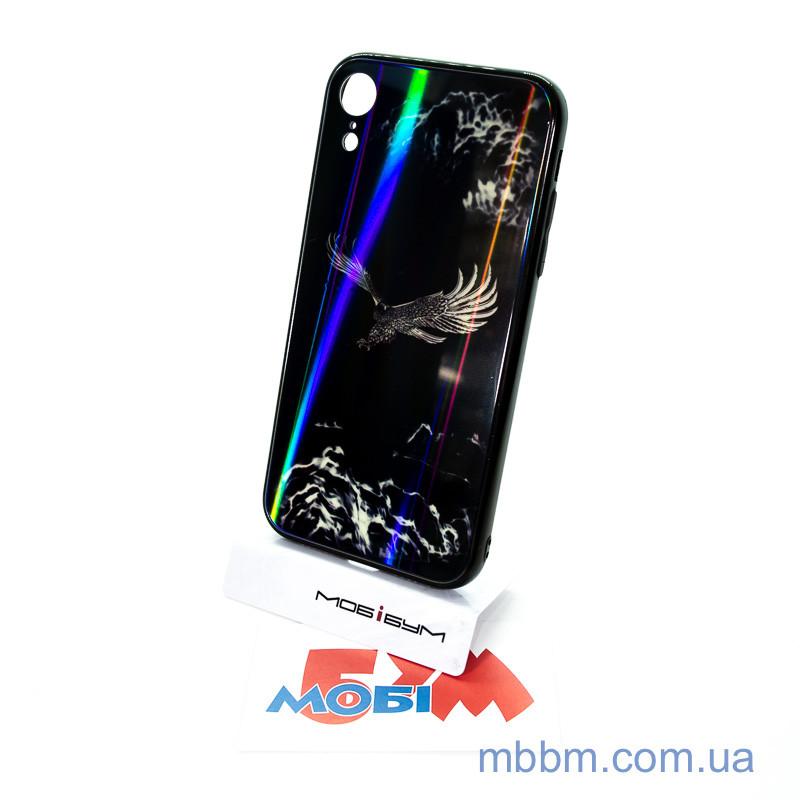 """Накладка TPU + Glass Lumi iPhone Xr {6.1 """"} яструб"""