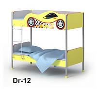 Двухярусная кровать Dr-12 (матрас 90*200 см) мебель детская.