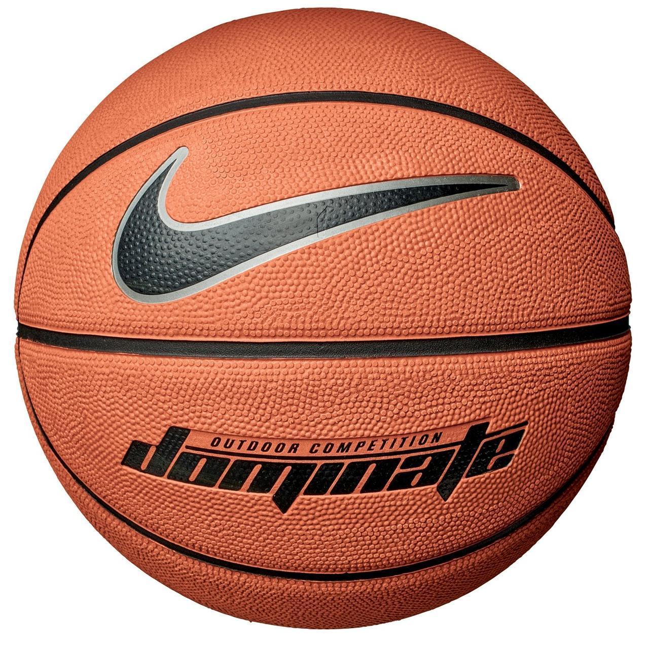 Мяч баскетбольный резиновый для игры на улице и в зале Nike Dominate размер 6, цвет - оранжевый