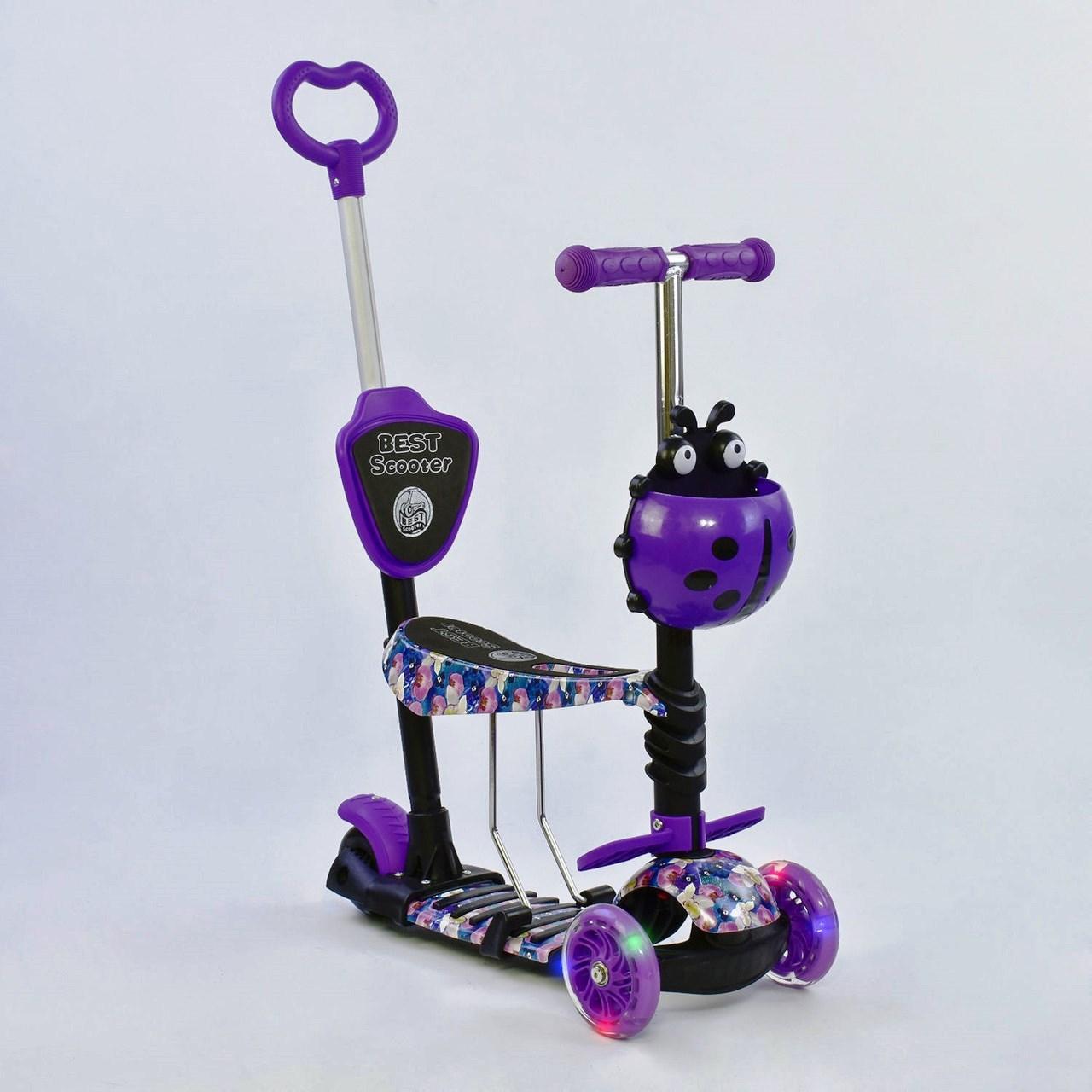 Самокат Best Scooter 5 в 1 Абстракция 19870 подсветка колес