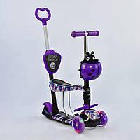 Самокат Best Scooter 5 в 1 Абстракция 19870 подсветка колес, фото 1