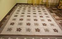 Напольный коврик с узорами 150смХ240см