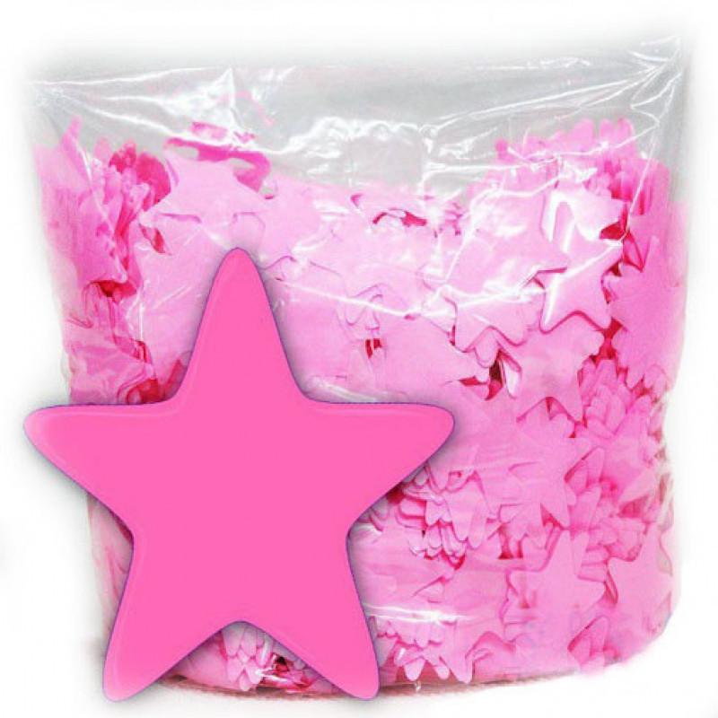 Конфетти Звёздочки, Розовые, 250 гр