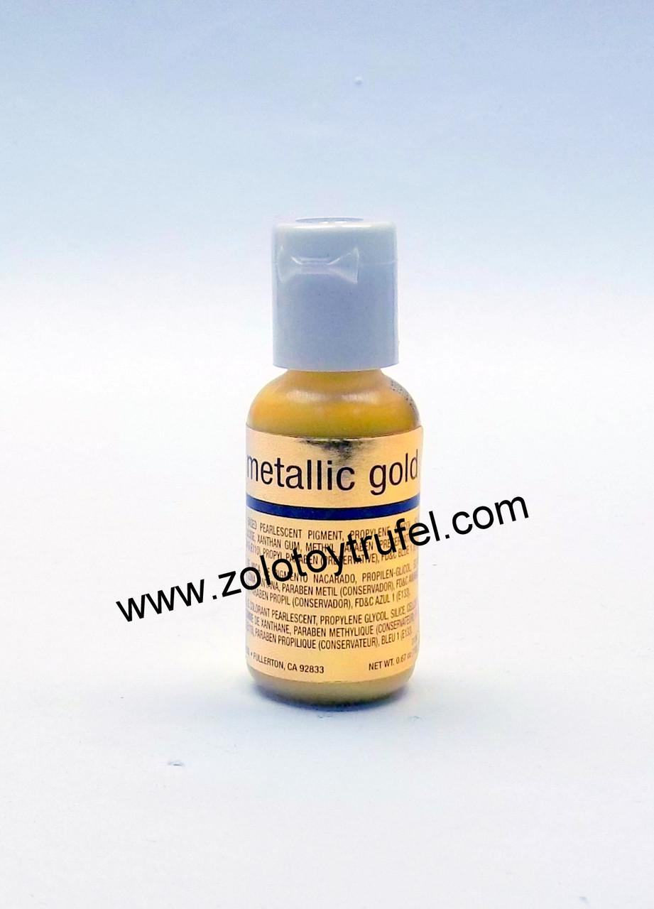 "Краситель ""Mettalic Gold (золото) 20 мл"",Chefmaster"
