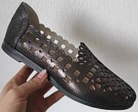 Балетки в стиле Versace Эспадрильи!! перфорация мокасины балетки женские туфли кожа цвет черный