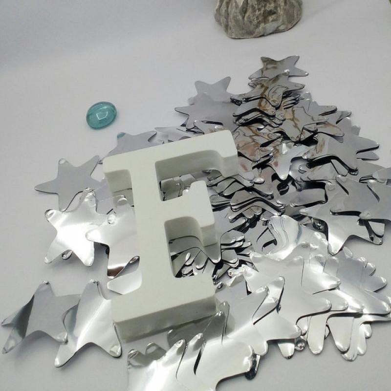 Конфетти Звёздочки, Серебро, 50 гр