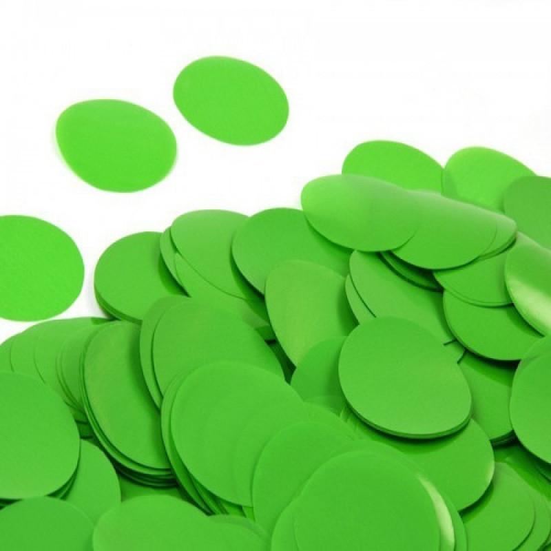 Конфетти Кружочки 23 мм, Зелёные, 500 гр
