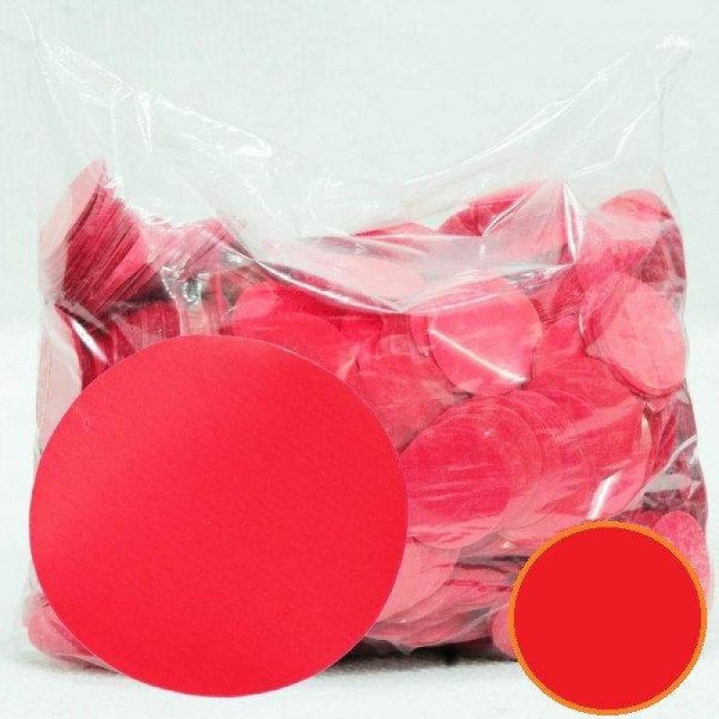 Конфетті Кружечки 23 мм, Червоні, 250 гр