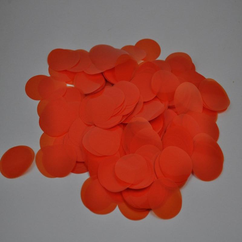 Конфетти Кружочки 23 мм, Оранжевые, 50 гр
