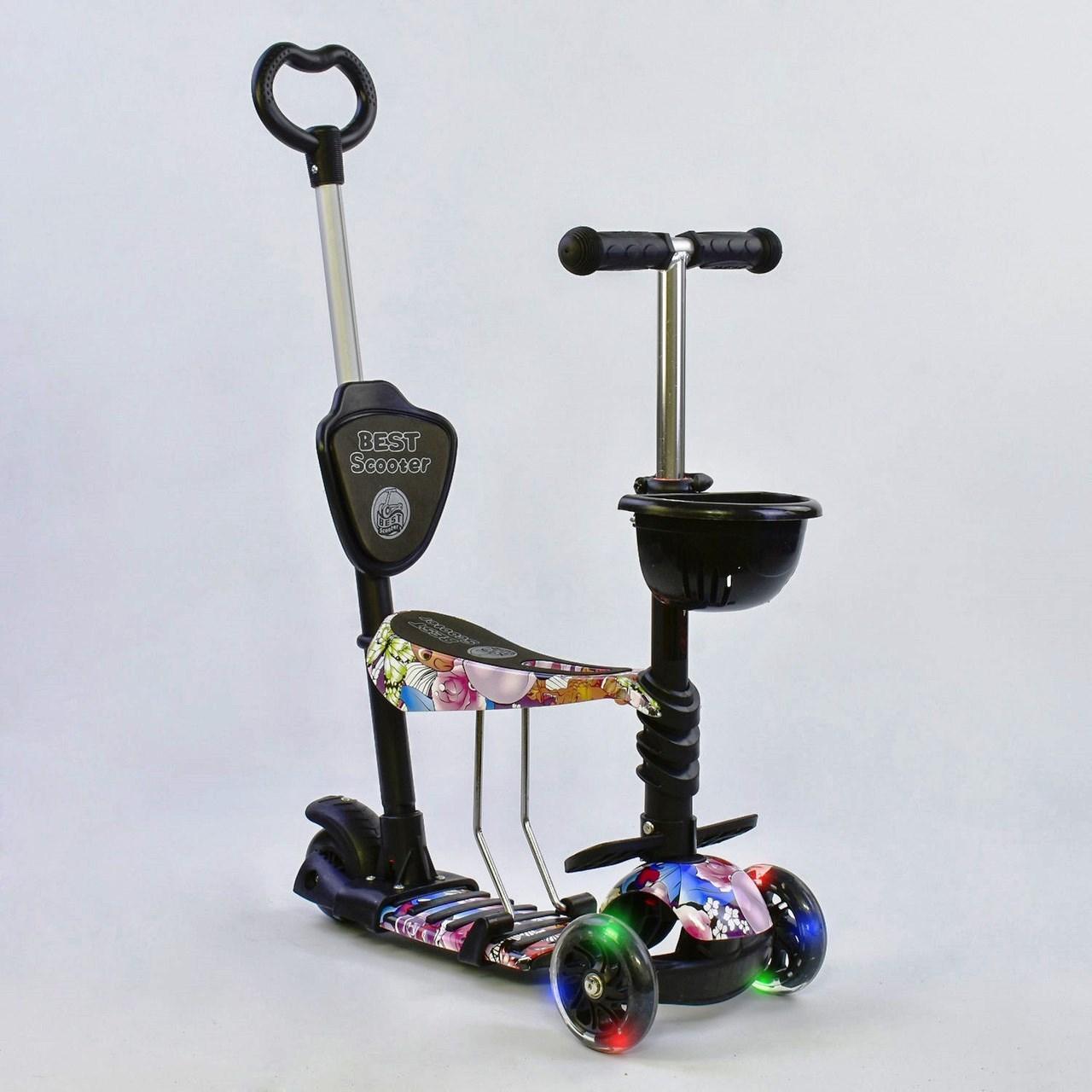 Самокат Best Scooter 5 в 1 Абстракция 68990 подсветка колес