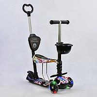 Самокат Best Scooter 5 в 1 Абстракция 68990 подсветка колес, фото 1