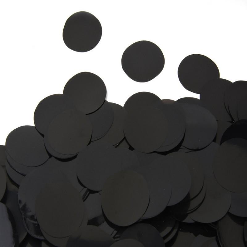 Конфетти Кружочки 23 мм, Чёрные, 50 гр