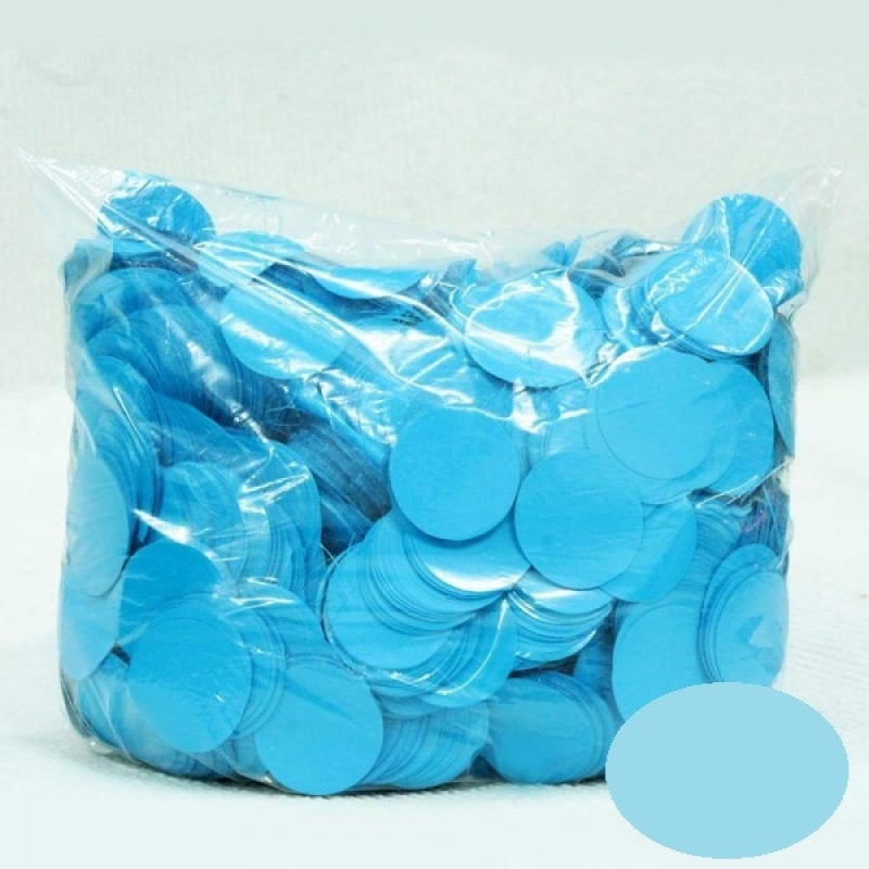 Конфетти Кружочки 23 мм, Голубые, 50 гр