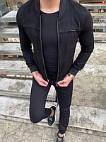 Мужская куртка черная 3 цвета ЛЮКС КАЧЕСТВО весна осень лето мужской бомбер