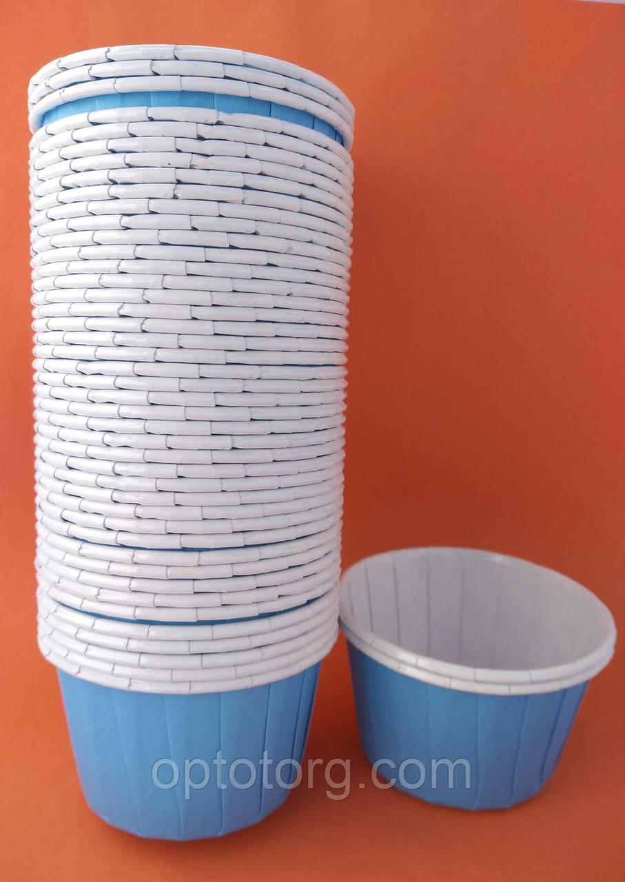 Формы для выпечки кексов бумажные 6,5*4 см