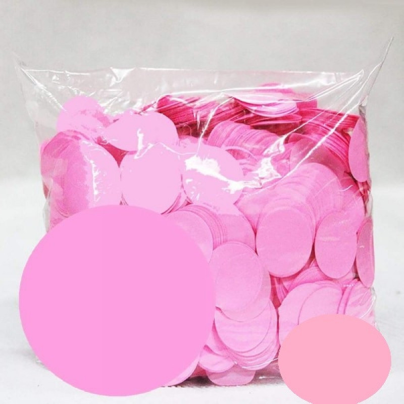Конфетти Кружочки 23 мм, Розовые, 50 гр
