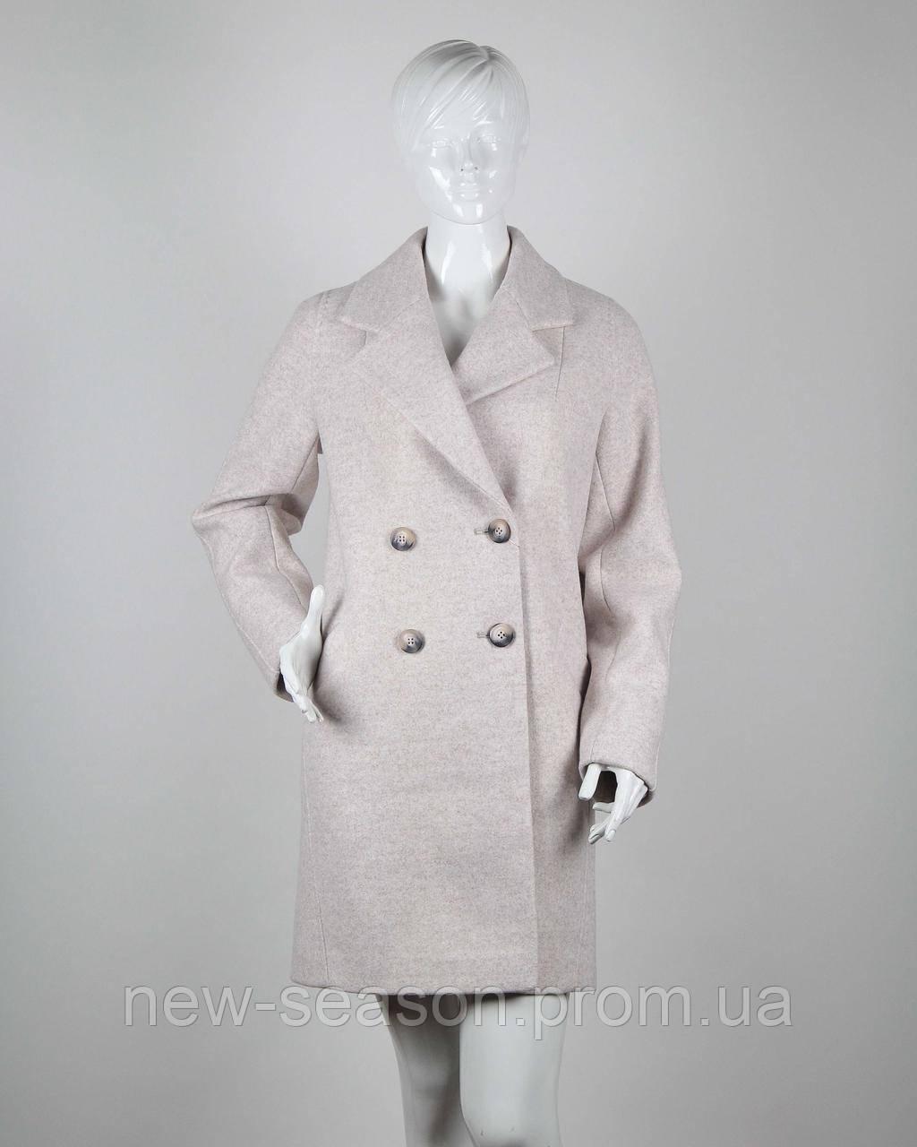 Вовняні Пальто SILLIN COLLECTION 7099 кремовий