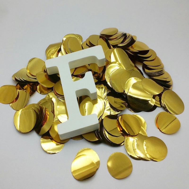 Конфетти Кружочки 23 мм, Золото, 500 гр
